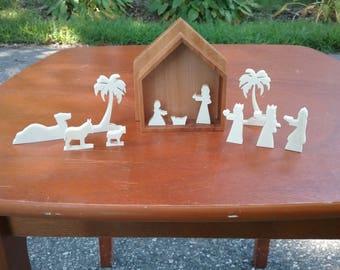 Mini Nativity Set,  Cedar