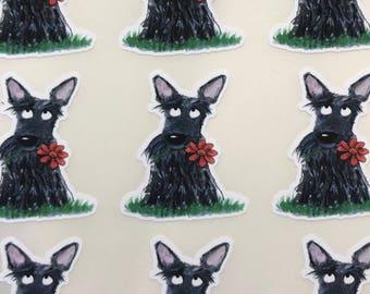 Scottie Dog Fun Premium Vinyl planner/ Agenda / Journal 30 stickers