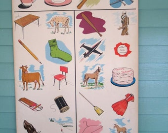 Vintage Elementary School Teaching Chart