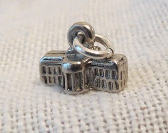 White House Capitol Building 3D Sterling Silver Charm