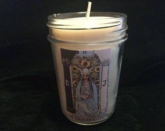 Tarot Candle - The High Priestess