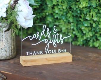 Custom Cards & Gifts Acrylic Custom Sign | Wedding
