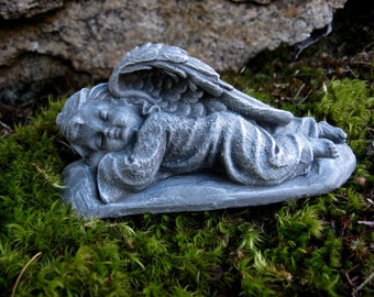 Angel Statue, Cherub Angels, Garden Decor, Sleeping Angels Pair, Concrete  Angel,