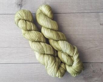 Hand Dyed Lace Weight 100% Superwash Merino Singles Tonal Yarn