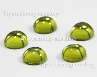 10 piece lot natural peridot round gemstone cabochon high quality smooth polished
