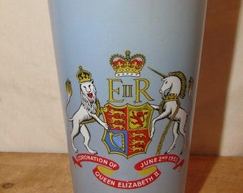 Queen Elizabeth II Coronation Glass Dewsbury tumbler - Original from 1953