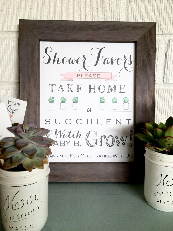 Set of 25- Watch Me Grow Succulent Favor Tags, Wedding Favor tags ...