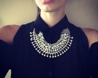 "Stacked Statement Necklace- ""Absolution"" Wrecklace"