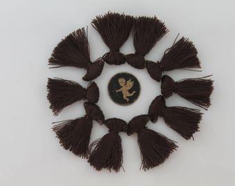 10 Brown tassel fringe - 25 mm - jewelry