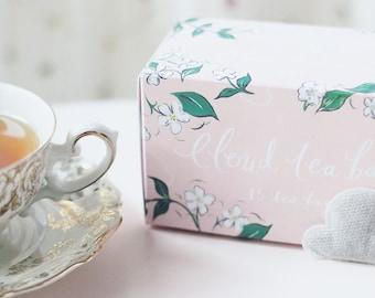 Box of 15 cloud shaped tea bags - Golden Or