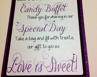 Candy Buffet Welcome Sign