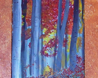 Autumn Forest Acrylic Painting