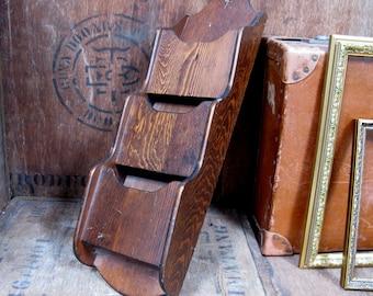 Cubby Shelf, Wood Letter Rack, Mail Rack, Docket Shelf, Wall Shelf, Vintage Shelves, Vintage Shelf, Wood Shelf, Old Shelf, Menu Holder