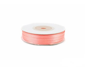 3mm - reel 50 m 238 coral satin ribbon
