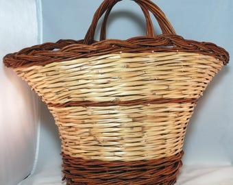 "Traditional Sicilian Willow ""Vimini"" Mushroom Hunter's Basket"