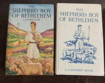 The SHEPHERD BOY of BETHLEHEM Ladybird Book Religious Stories Series 522 Dust Cover 1954  4th edition