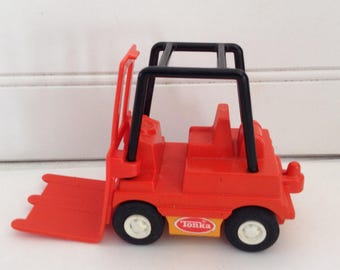 Tonka Forklift - 3508 -  Mini forklift - orange - 70s - Estate Sale Find -  collectible vehicle - Tonka collector - man cave - gift for him