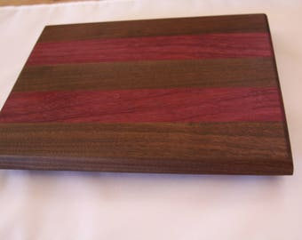 Cutting/serving board: Black Walnut & Purpleheart