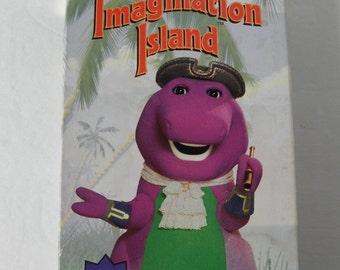 Barney's Imagination Island Primetime TV Special 1994 VHS Video Tape Pre-owned