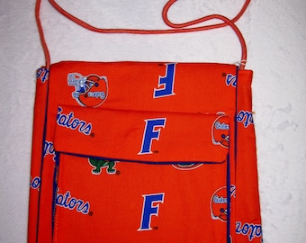 Handmade Cross-Body Florida Gators Purse