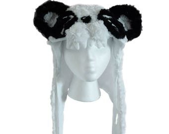 Magnetic Panda Chomp Hood, Soft Animal Hat with Magnetic Clasps