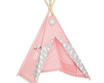 Teepee Tent - Cloudy Rose