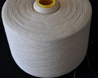 1 spool 1 kg 100% hemp yarn white bleached Nm 24 on a cone