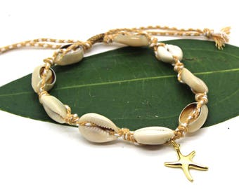 Cowrie Shell Anklet, Cowrie Shell Jewelry, Beach Jewelry, Sea Shell Anklet, Beach Wedding, Silver Anklet, Beach Wedding