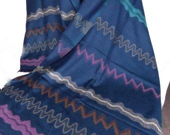 Blue shawl PASHMINA ethnic wool stole scarf shawl stole LJ15