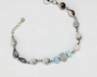 Jobs Tears rosary bracelet, orthodox prayer rope, orthodox cross bracelet, brojanica, 10 beads prayer rope,  christian bracelet
