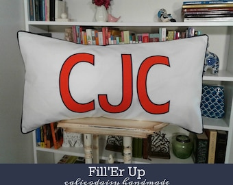 FILL'ER UP Large Applique Monogram King Pillow Sham - 20 x 36