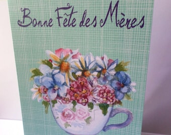 Good mother's Day card handmade 21cm x 15cm