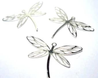 1 925 sterling silver Dragonfly PENDANT, length 20 mm filigree