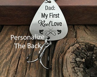 Dad Fishing Gifts Fishing Lure Personalized Fishing Lure Father of the Bride Dad Fishing Unique Gift Father My First Reel Love Personalized