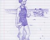 Woman on a Beach Original...