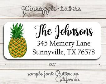 Pineapple Return Address Labels