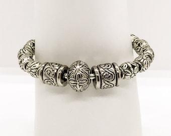 Silver Beaded Bangle