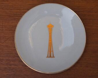 1962 Space Needle Ring Dish World's Fair Seattle