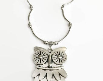 Owl Necklace - Owl Silver Necklace - Owl - Owl Pendant - Owl Jewelry - Silver Owl Necklace - Silver Owl - Silver Necklace - Necklace -