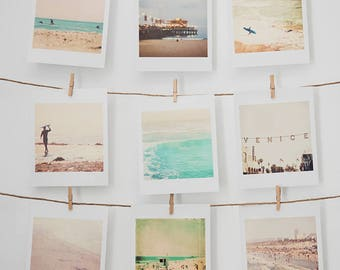 beach photos, mini print, California photography, seaside Los Angeles Venice Santa Monica, surfer gift, stocking stuffer, under 20, nautical