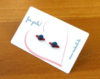 Mädchenschmuck Kinderschmuck Ohrstecker Ohrringe Saturn Silber 925