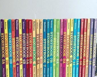 Vintage Sullivan Associated Reader's - Children's Books - Homeschool - Colorful Book Set - Illustrated