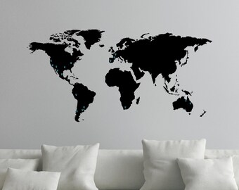 World map wall decal etsy world map decal for wall with map markers 0050 gumiabroncs