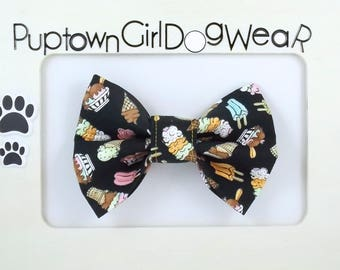Ice Cream Dog Bow Tie Cat Bow Tie Dessert Bow Tie Bow Tie for Dogs Photo Prop Popsicle Bow Tie