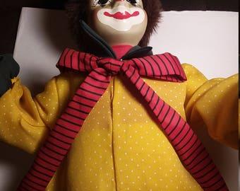 Vintage Porcilin Clown doll beautiful condition