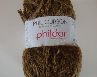 Pincushion 50g wool yarn Phil bear Phildar - 102 - needles 3, 5-4 bronze color