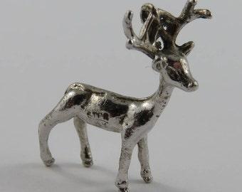 Buck Sterling Silver Vintage Charm For Bracelet