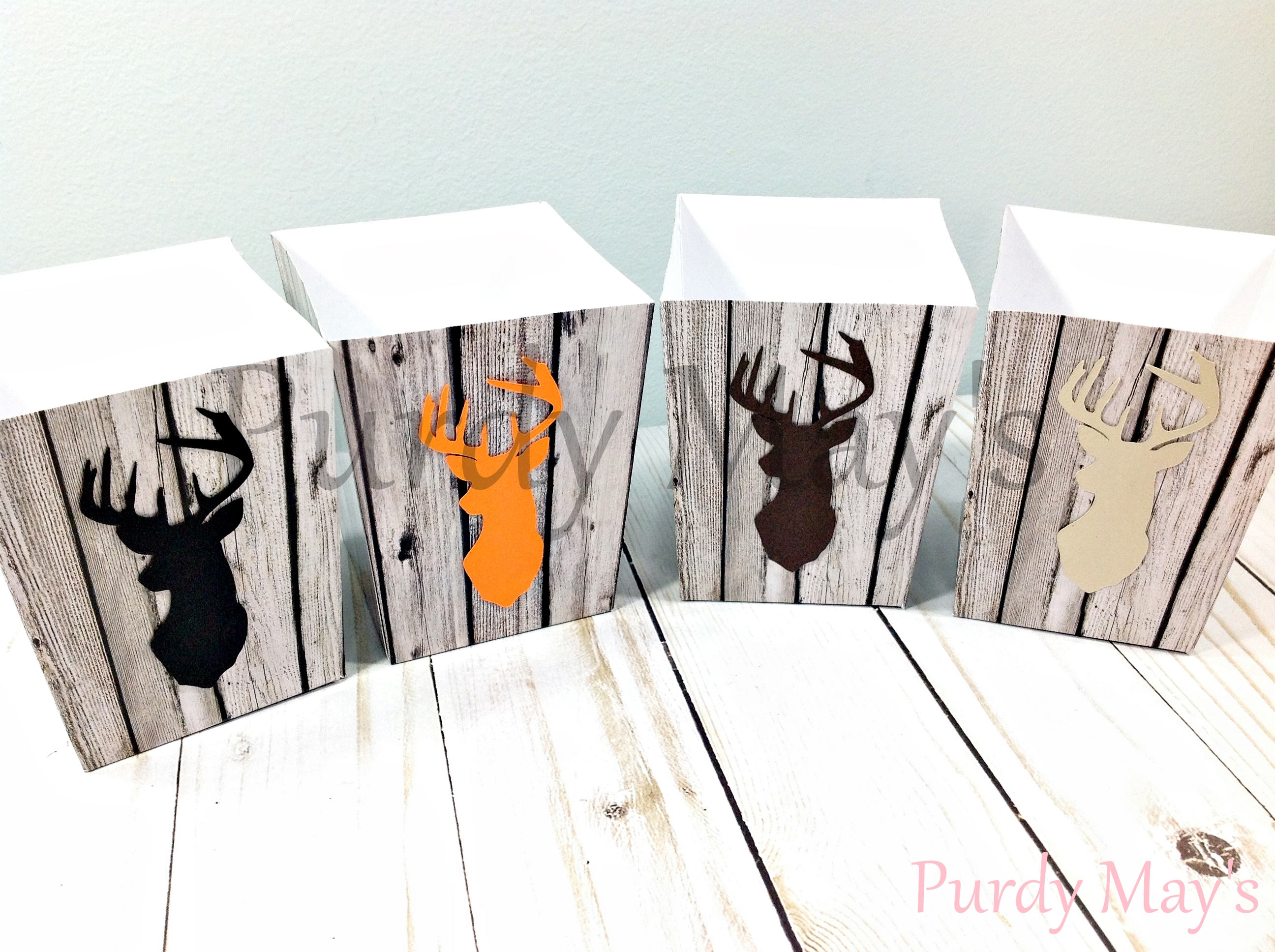 Buck Popcorn Boxes Buck Party Favors Buck Box Favors Deer