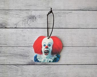 Shrink Plastic Ornament 1990 Pennywise Inspired Ornament IT Inspired Ornament Horror Ornament Scary Ornament Clown Ornament Halloween