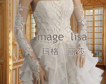 wedding gloves Bridal gloves lace gloves white long gloves